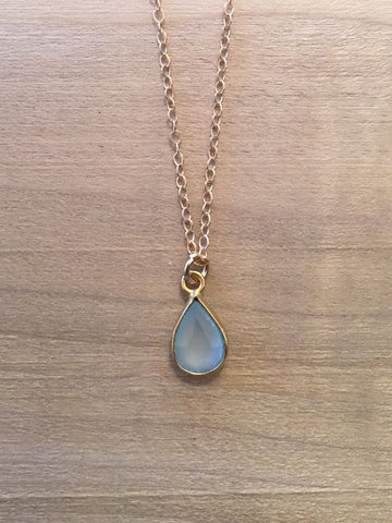 SCORPIO Aquamarine Zodiac Necklace