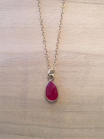 CAPRICORN Ruby Zodiac Necklace
