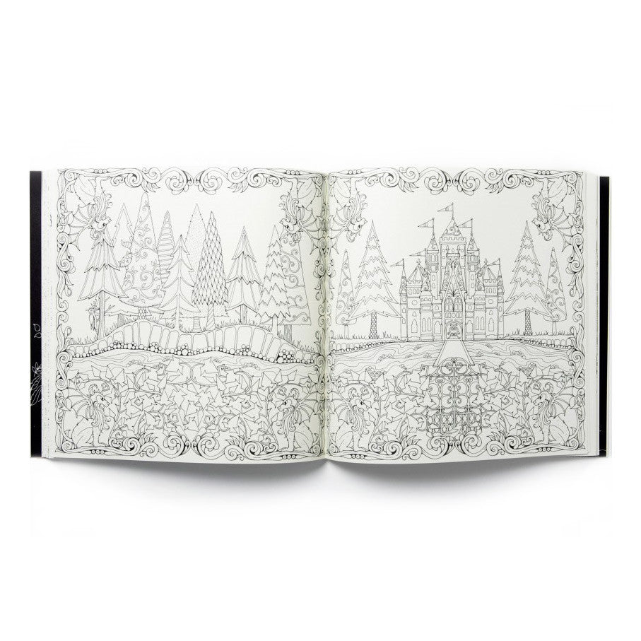 The enchanted forest colouring book nz - Coloring Book Enchanted Enchanted Forest Coloring Book Page Example 3