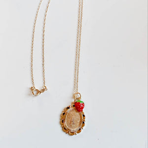14kt Strawberry Charm
