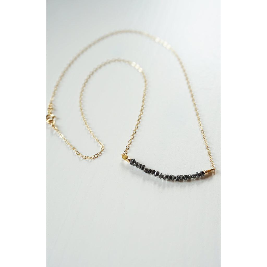 Raw Black Diamond Necklace - JoeLuc Jewelry