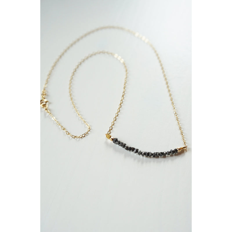 Raw Black Diamond Necklace