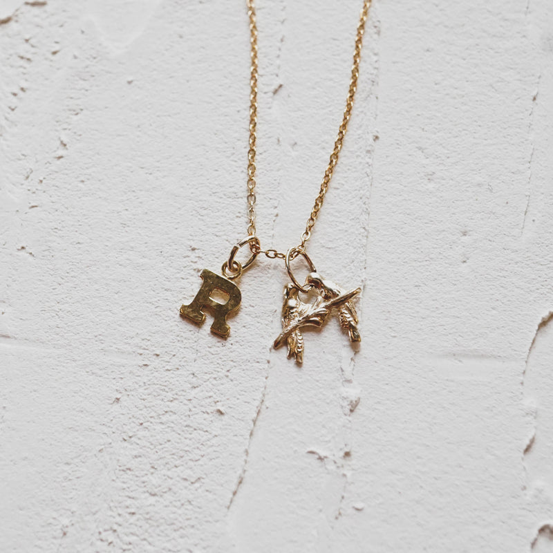 Gold Filled Initial - JoeLuc Jewelry