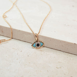 14kt Evil Eye - JoeLuc Jewelry