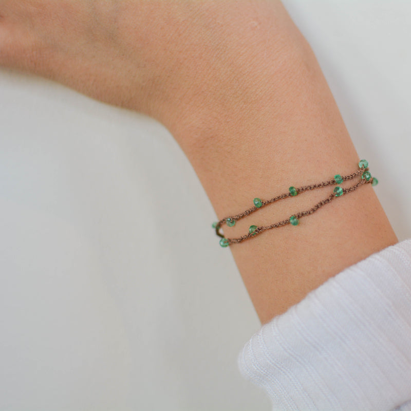 Emerald Silk Wrap - JoeLuc Jewelry
