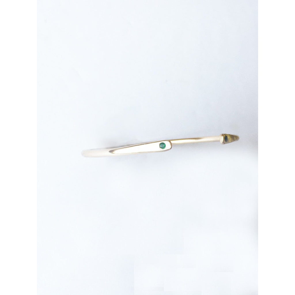Emerald Paddled Bracelet - JoeLuc Jewelry