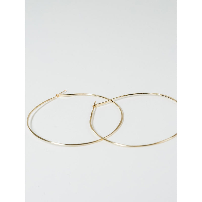 Gold Hammered Hoops - JoeLuc Jewelry