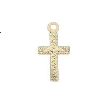 Engraved Cross Charm - JoeLuc Jewelry