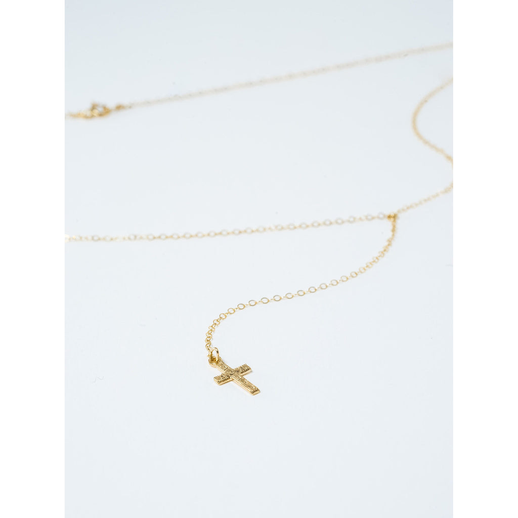 Dropped Cross Necklace - JoeLuc Jewelry