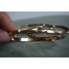 Engravable Gold Cuff