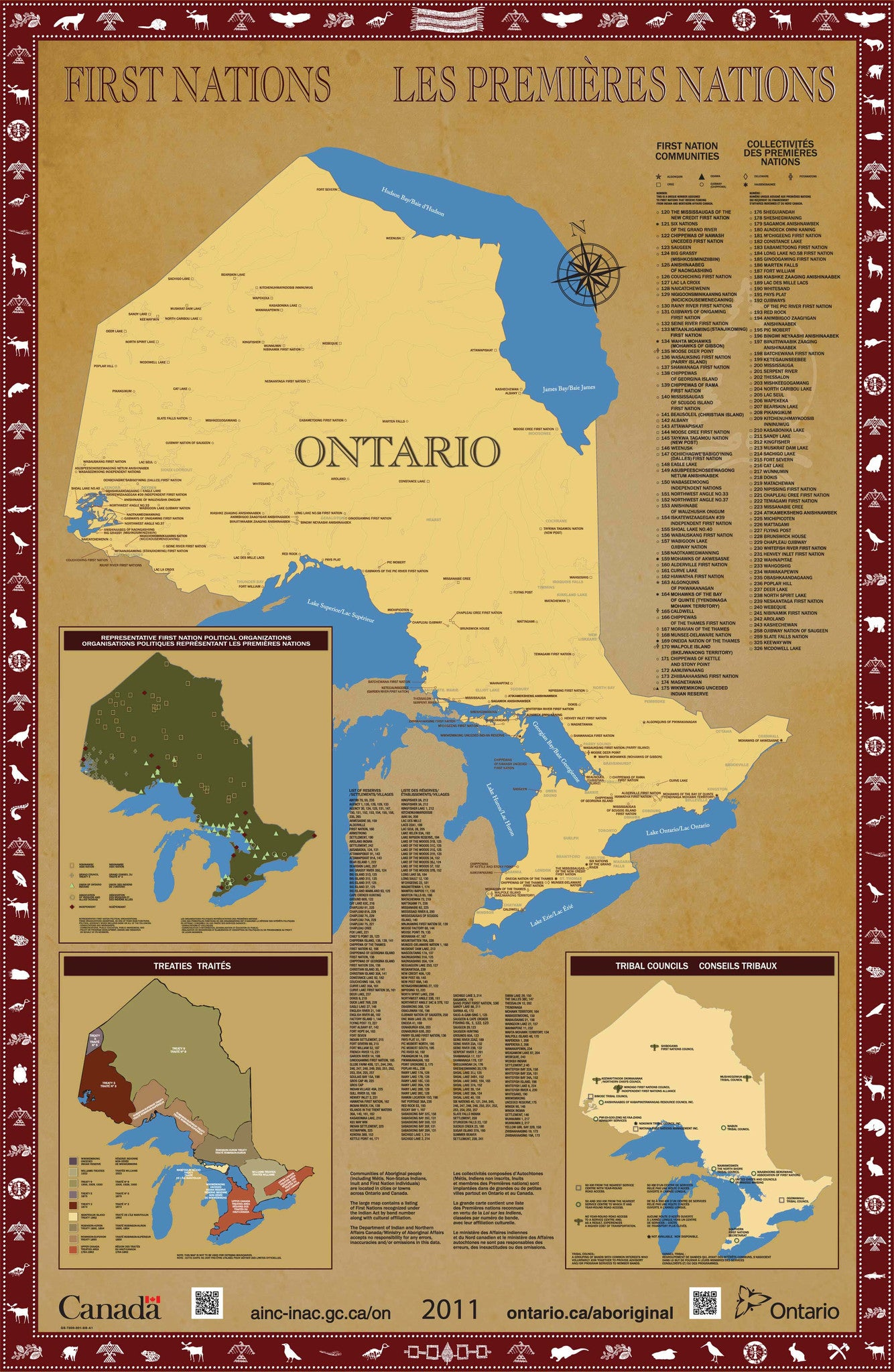 Canada First Nations of Ontario Map North American Book