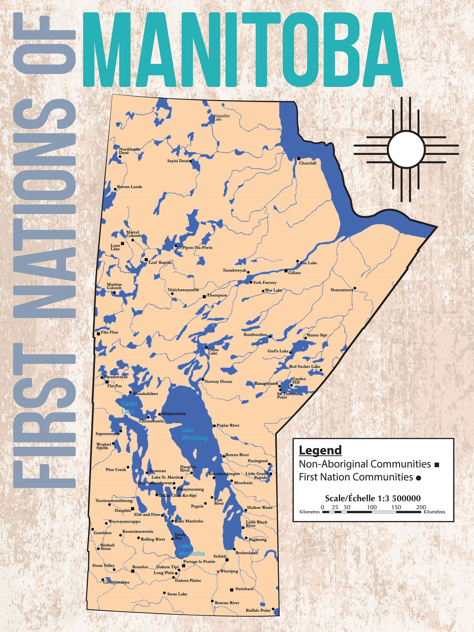 Canada First Nations of Manitoba Map North American Book