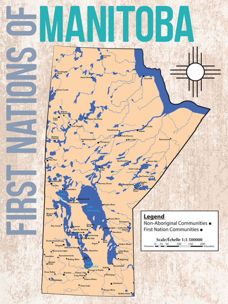 Canada - First Nations of Manitoba Map