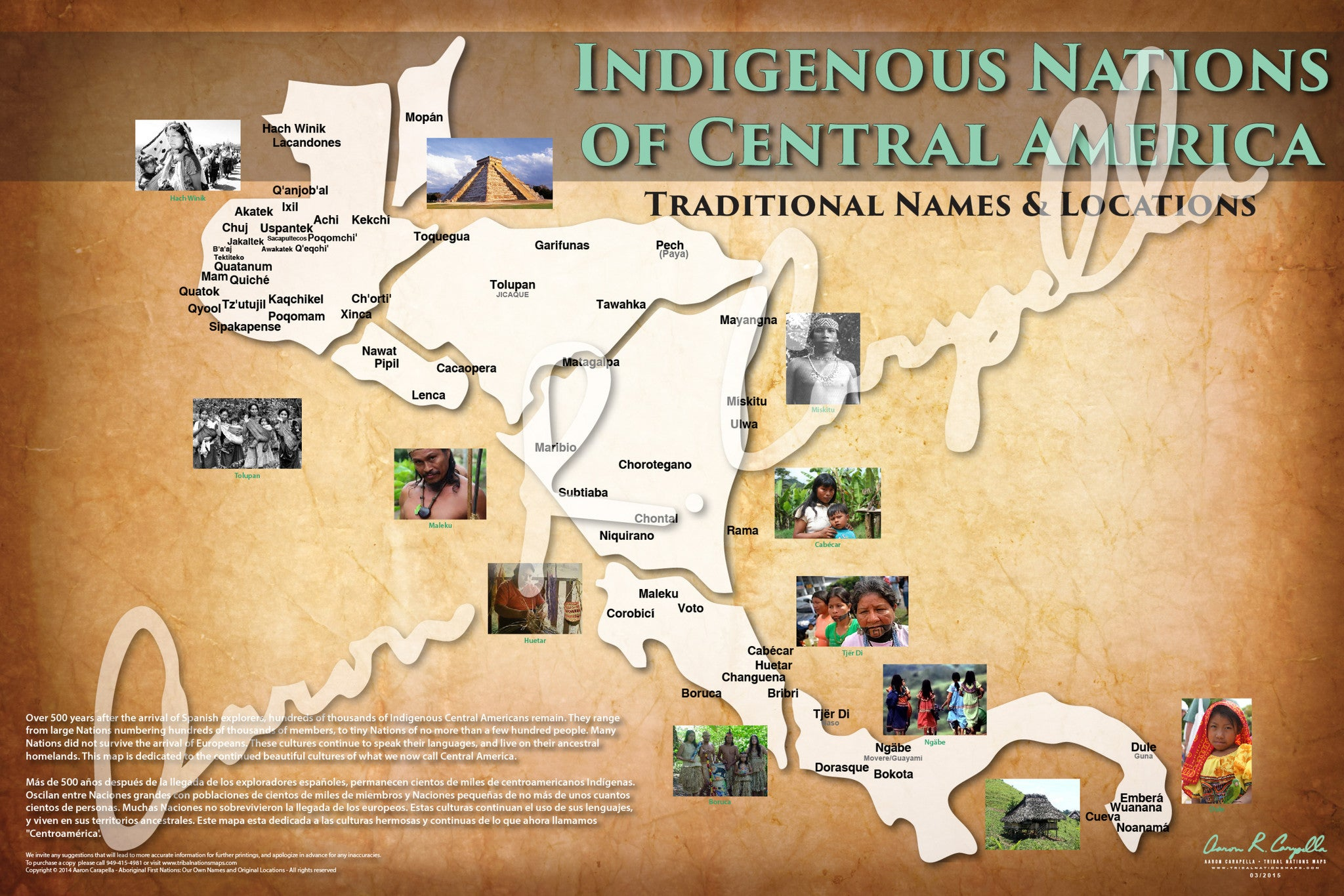 Central America - Indigenous Nations of Central America Map - Native and Common Names