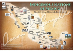 Mexico - Indigenous Nations of Mexico Map - Native and Common Names