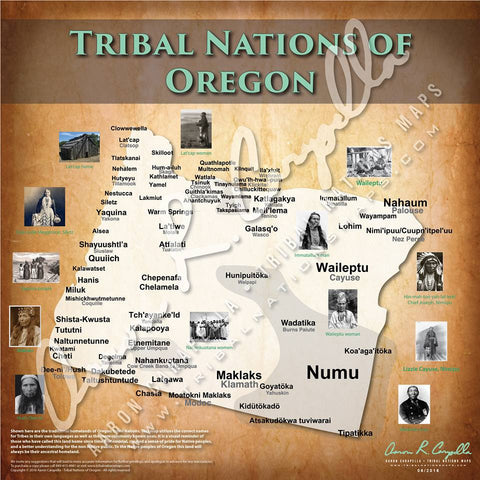 United States - Tribal Nations of Oregon Map
