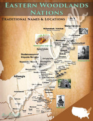 United States - Eastern Woodlands Nations Map