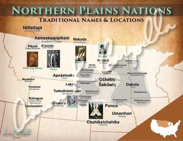 United States - Northern Plains Nations Map