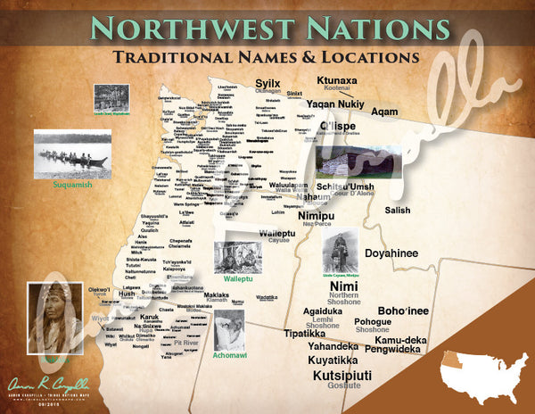 United States - Northwest Nations Map