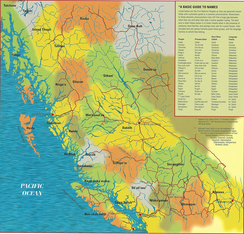 Canada - First Nations Peoples of British Columbia Map