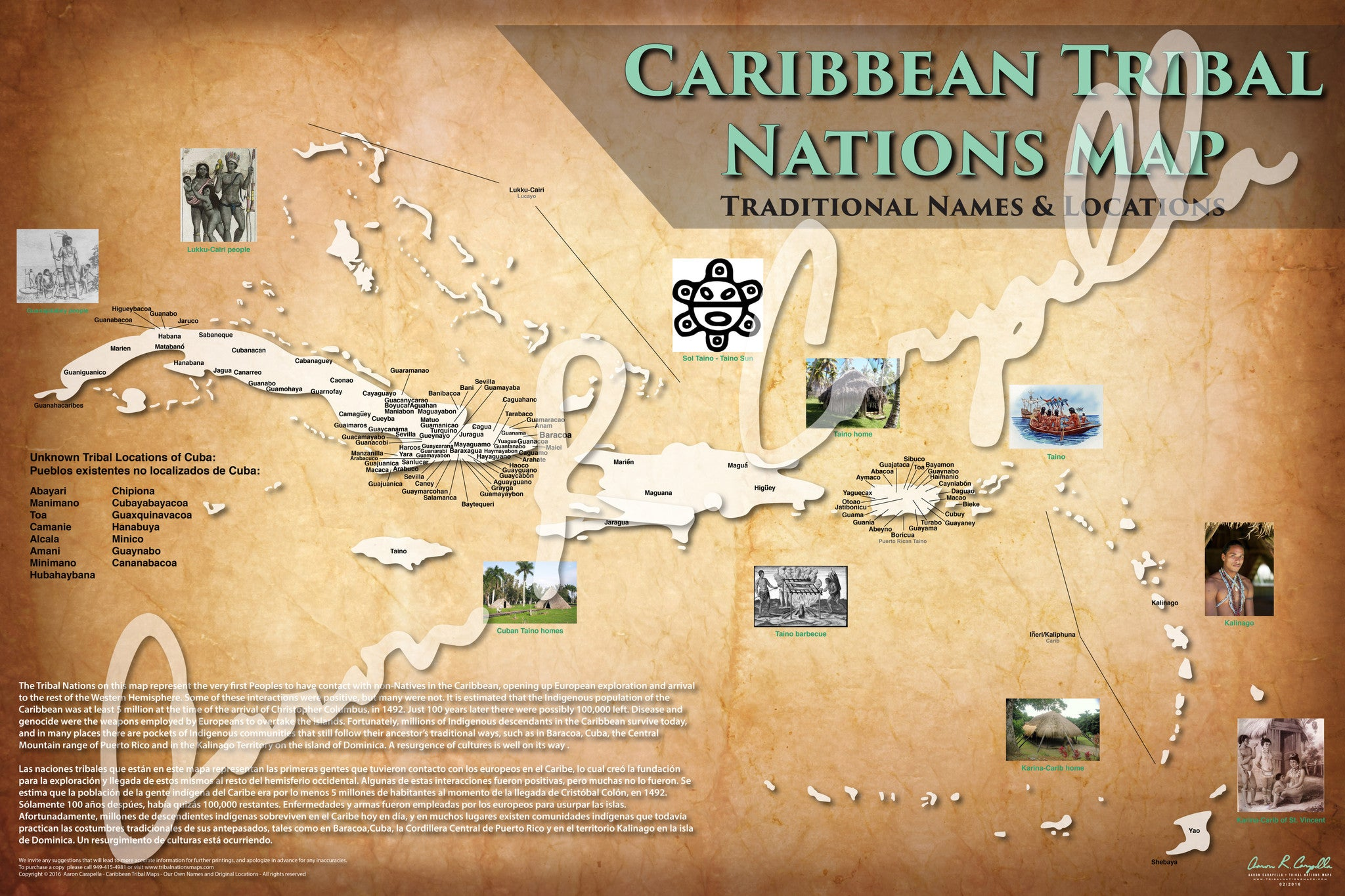 Caribbean - Tribal Nations Map