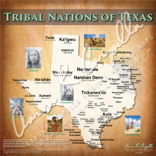 United States - Tribal Nations of Texas Map