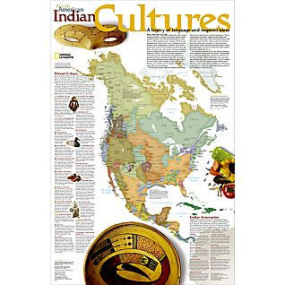 North America - North American Indian Cultures Map