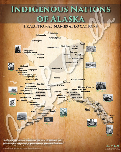 Alaska - Indigenous Nations of Alaska Map - Native and Common Names