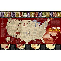 United States - North American Indian Reference Map