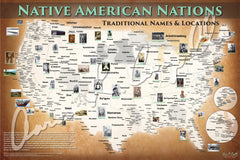 United States - Native American Nations Map - Native and Common Names