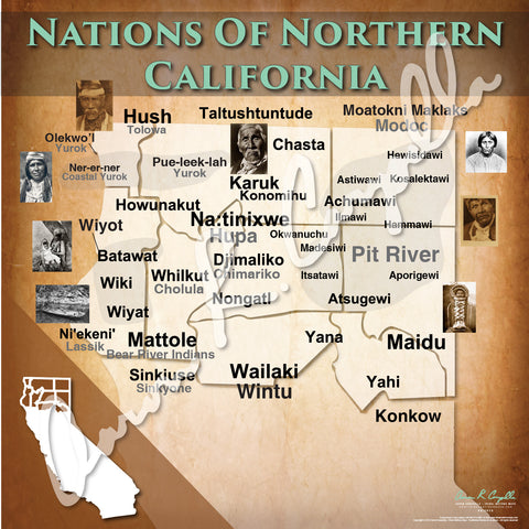 United States - Nations of Northern California Map