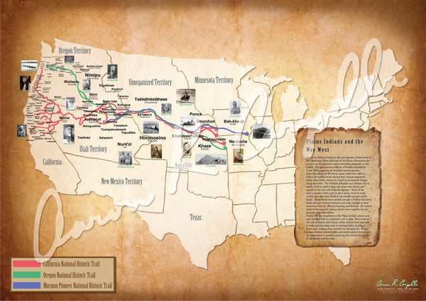 United States - Plains Indian Trails Map