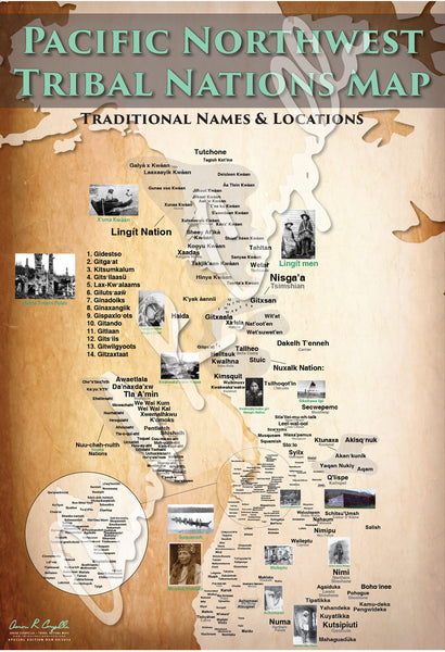 United States - Pacific Northwest Tribal Nations Map