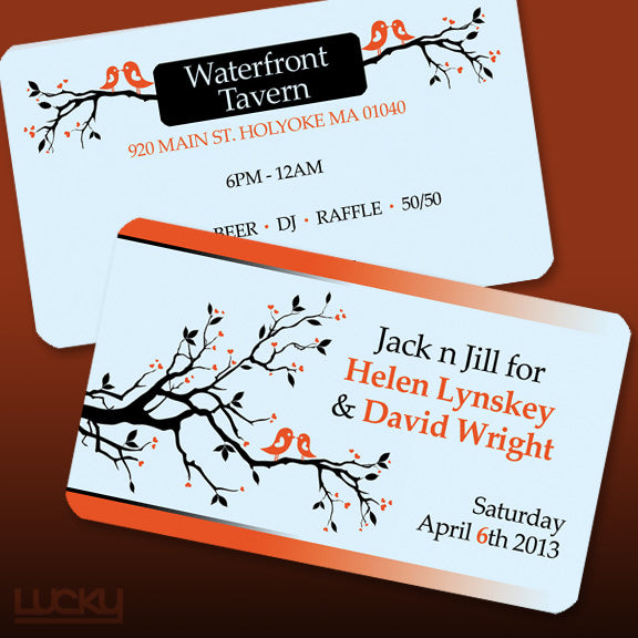 Design portfolio lucky design media this couple used our business cards to create tickets for reheart Choice Image