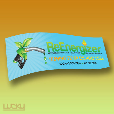 vinyl banner printing and design for biodiesel renewable energy company