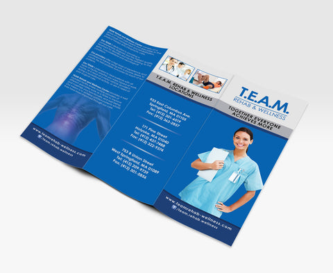 Medical professional services - Trifold brochure design and printing