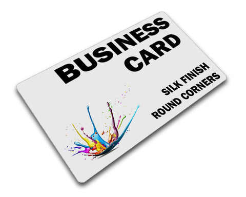 Silk Finish Business Cards with Rounded Corners Printing