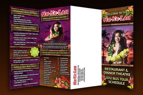 8.5x14 Accordian Fold Brochure design and print
