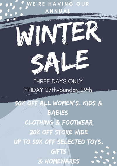 We're Having Our Annual Winter Sale