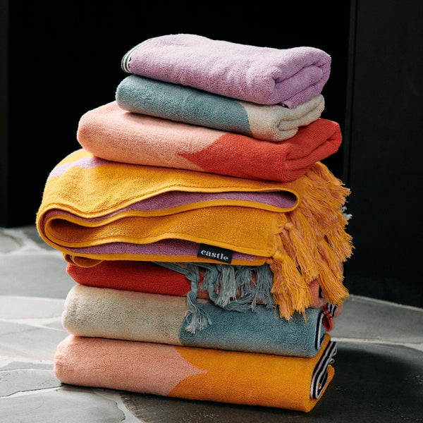 Stack Of Bath Towels By Castle and Things