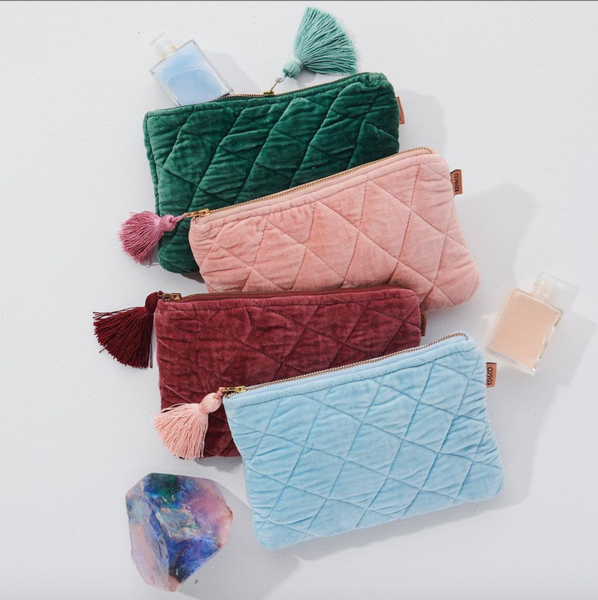 Kip and Co Velvet Cosmetic Clutch