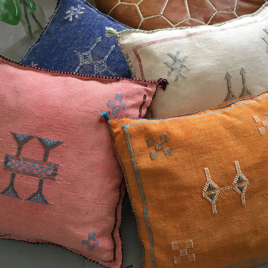 Moroccan Sabre Silk Cushions at The Corner Booth
