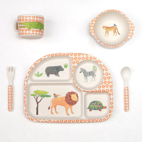 Love Mae children's bamboo dinner sets