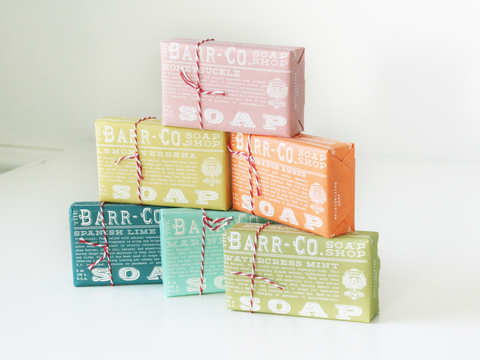 Barr-Co Soaps in The Corner Booth Annandale gift shop