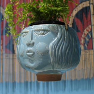 Hanging Face Planter