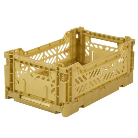 AY-KASA Mini Folding Storage Crate in Gold - The Corner Booth
