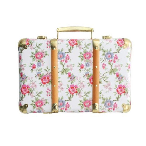 Alimrose Vintage Style Carry Case in Cottage Rose