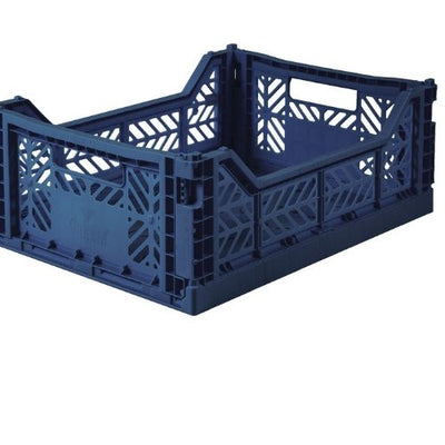 AY-KASA Midi Folding Storage Crate in Navy - The Corner Booth