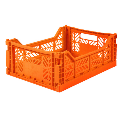 Folding Storage Crate in Orange By Ay-Kasa
