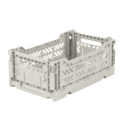 AY-KASA MINI Folding Crate in Light Grey